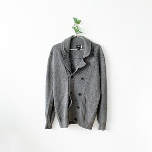 H&M Double Breasted Knit Sweater